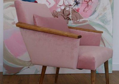 fotel prl podłokietniki