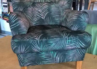 fotel - liście palmowe