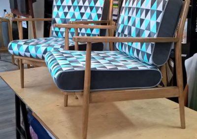fotele w trójkaty